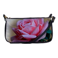 Rose Pink Flowers Pink Saturday Shoulder Clutch Bags