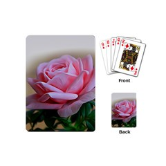 Rose Pink Flowers Pink Saturday Playing Cards (mini)