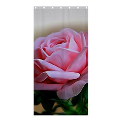 Rose Pink Flowers Pink Saturday Shower Curtain 36  X 72  (stall)