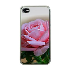Rose Pink Flowers Pink Saturday Apple Iphone 4 Case (clear)