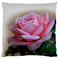 Rose Pink Flowers Pink Saturday Large Cushion Case (two Sides)