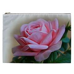 Rose Pink Flowers Pink Saturday Cosmetic Bag (xxl)