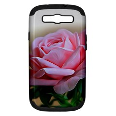 Rose Pink Flowers Pink Saturday Samsung Galaxy S Iii Hardshell Case (pc+silicone)