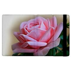 Rose Pink Flowers Pink Saturday Apple Ipad 3/4 Flip Case