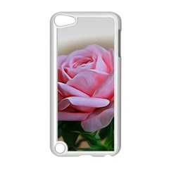 Rose Pink Flowers Pink Saturday Apple Ipod Touch 5 Case (white)