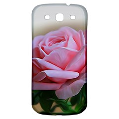 Rose Pink Flowers Pink Saturday Samsung Galaxy S3 S Iii Classic Hardshell Back Case
