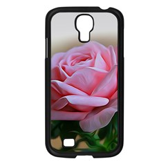 Rose Pink Flowers Pink Saturday Samsung Galaxy S4 I9500/ I9505 Case (black)
