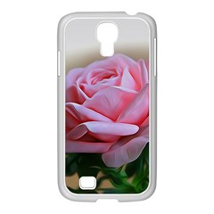 Rose Pink Flowers Pink Saturday Samsung Galaxy S4 I9500/ I9505 Case (white)