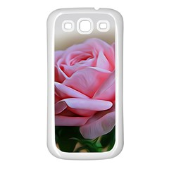 Rose Pink Flowers Pink Saturday Samsung Galaxy S3 Back Case (white)