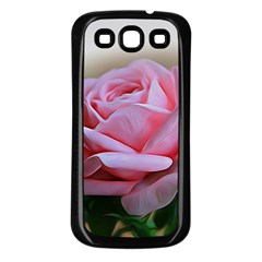 Rose Pink Flowers Pink Saturday Samsung Galaxy S3 Back Case (black)