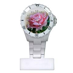 Rose Pink Flowers Pink Saturday Plastic Nurses Watch