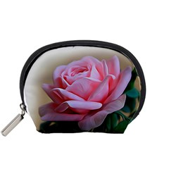 Rose Pink Flowers Pink Saturday Accessory Pouches (small)