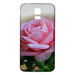 Rose Pink Flowers Pink Saturday Samsung Galaxy S5 Back Case (white)
