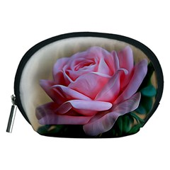 Rose Pink Flowers Pink Saturday Accessory Pouches (medium)