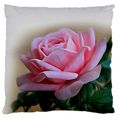 Rose Pink Flowers Pink Saturday Standard Flano Cushion Case (one Side)