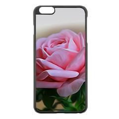 Rose Pink Flowers Pink Saturday Apple Iphone 6 Plus/6s Plus Black Enamel Case