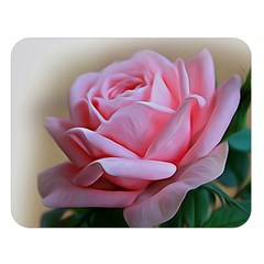 Rose Pink Flowers Pink Saturday Double Sided Flano Blanket (large)