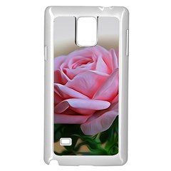Rose Pink Flowers Pink Saturday Samsung Galaxy Note 4 Case (white)