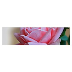 Rose Pink Flowers Pink Saturday Satin Scarf (oblong)