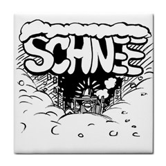 Snow Removal Winter Word Tile Coasters