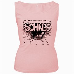 Snow Removal Winter Word Women s Pink Tank Top