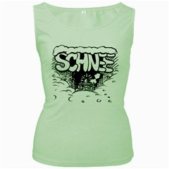 Snow Removal Winter Word Women s Green Tank Top