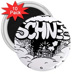 Snow Removal Winter Word 3  Magnets (10 Pack)