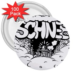 Snow Removal Winter Word 3  Buttons (100 Pack)