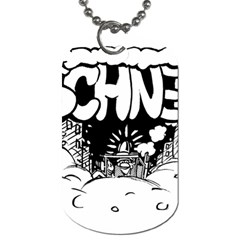 Snow Removal Winter Word Dog Tag (one Side)