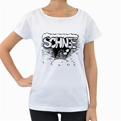 Snow Removal Winter Word Women s Loose Fit T Shirt (white)