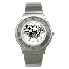 Snow Removal Winter Word Stainless Steel Watch