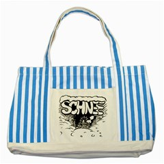Snow Removal Winter Word Striped Blue Tote Bag