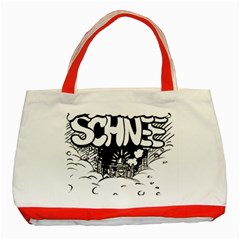 Snow Removal Winter Word Classic Tote Bag (red)