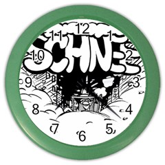 Snow Removal Winter Word Color Wall Clocks