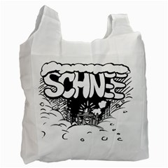Snow Removal Winter Word Recycle Bag (one Side)