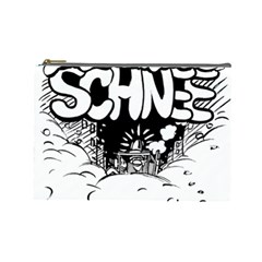 Snow Removal Winter Word Cosmetic Bag (large)