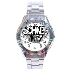Snow Removal Winter Word Stainless Steel Analogue Watch