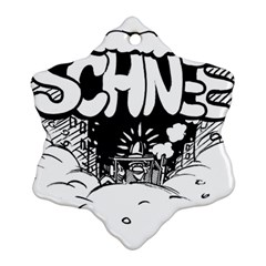 Snow Removal Winter Word Ornament (snowflake)