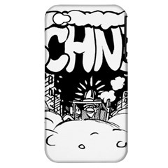 Snow Removal Winter Word Apple iPhone 4/4S Hardshell Case (PC+Silicone)
