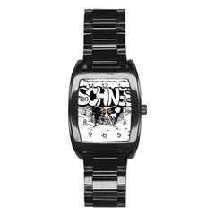 Snow Removal Winter Word Stainless Steel Barrel Watch