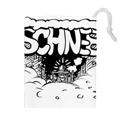 Snow Removal Winter Word Drawstring Pouches (extra Large)