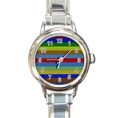 Pattern Background Round Italian Charm Watch