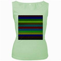 Pattern Background Women s Green Tank Top