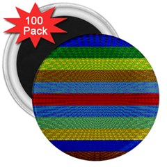 Pattern Background 3  Magnets (100 Pack)