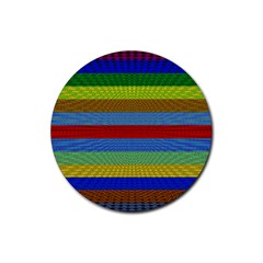 Pattern Background Rubber Round Coaster (4 pack)