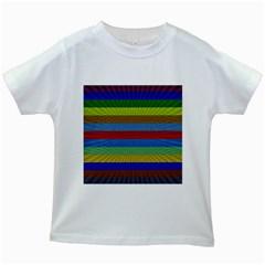 Pattern Background Kids White T Shirts