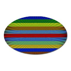 Pattern Background Oval Magnet