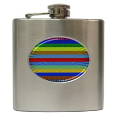 Pattern Background Hip Flask (6 Oz)