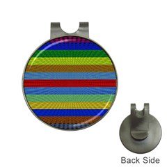 Pattern Background Hat Clips With Golf Markers