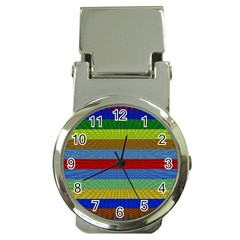 Pattern Background Money Clip Watches